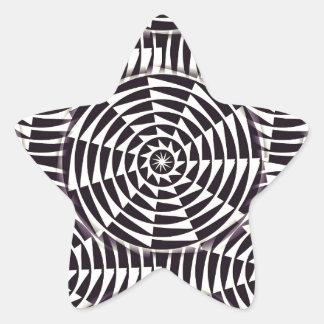 Monochrome geometric seamless pattern star sticker