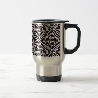 Monochrome geometric seamless pattern travel mug