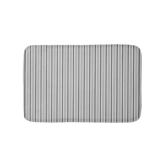 Monochrome Grey Stripe Design - Bath Mat