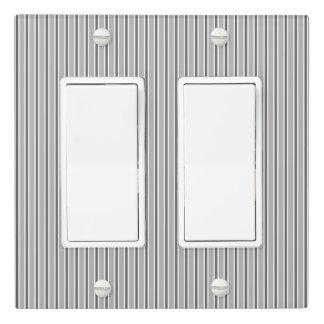 Monochrome Grey Stripe Design - Light Switch Cover
