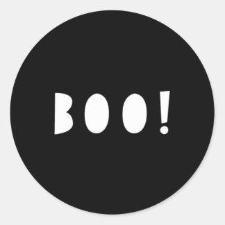Monochrome Halloween Stickers | BOO!