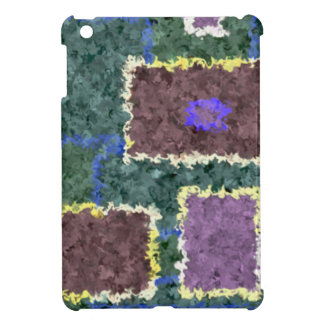 Monochrome in Green, Mauve & Cream iPad Mini Covers