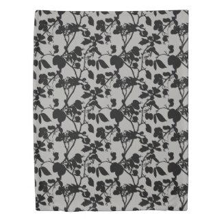 Monochrome Leaf Trail Duvet Cover