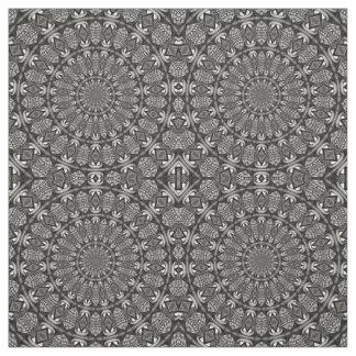 Monochrome Mandala Fabric