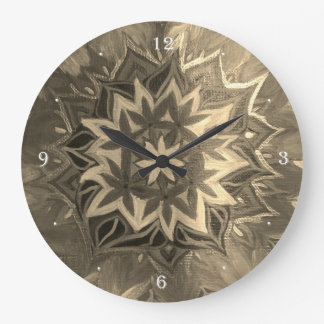 Monochrome Mandala Round (Large) Wall Clock