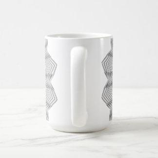 Monochrome Metallic Flower Mug