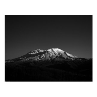 Monochrome Mount Saint Helens In Repose Postcard
