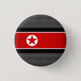 Monochrome North Korea Flag 1 Inch Round Button
