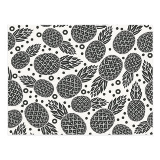 Monochrome Pineapples 2 Postcard