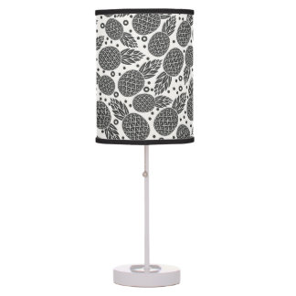 Monochrome Pineapples Table Lamp