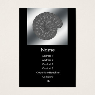 Monochrome Spiral Graphic. Business Card