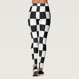 Monochrome Squares abstract repeatable geometric Leggings