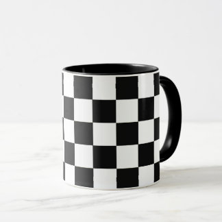 Monochrome Squares abstract repeatable geometric Mug
