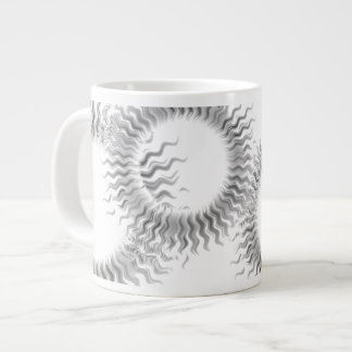Monochrome Sun Wheel Mug