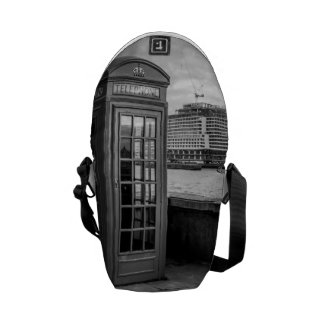 Monochrome Telephone Booth London Messenger Bags
