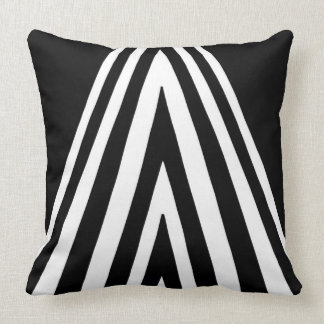 Monochrome Triangle Design Pattern Throw Pillow