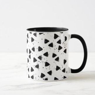 Monochrome Triangle Shape Pattern Stylish Mug