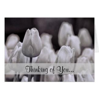 Monochrome Tulips Card