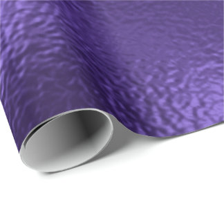 Monochrome Ultra Violet Purple Glass Metallic Wrapping Paper