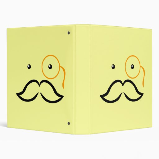 Monocle and Moustache 3 Ring Binders