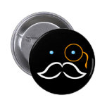 Monocle and Moustache Pin
