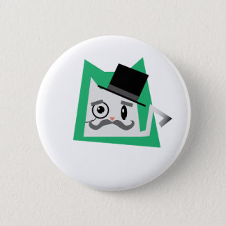 Monocle Cat 2 Inch Round Button
