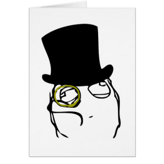Monocled Sir Greeting Card