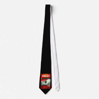 Monoco Grand Prix Vintage Travel Advertisement Tie
