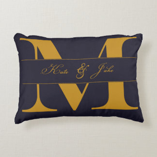 Monogarmmed Mad Love throw pillow
