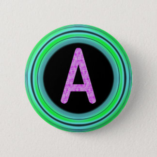 "Monogram ""A"" 2 Inch Round Button"
