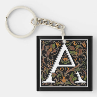Monogram A Acrylic Key Chain