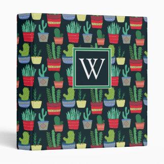 Monogram   A Crowd of Cactus 3 Ring Binder