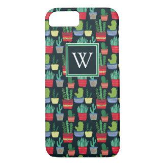 Monogram | A Crowd of Cactus iPhone 8/7 Case