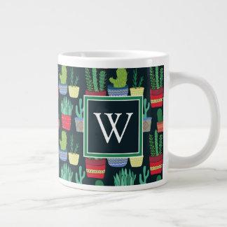 Monogram | A Crowd of Cactus Large Coffee Mug