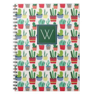 Monogram | A Crowd of Cactus Notebook