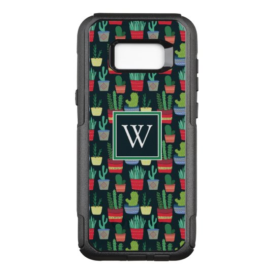 Monogram | A Crowd of Cactus OtterBox Commuter Samsung Galaxy S8+ Case