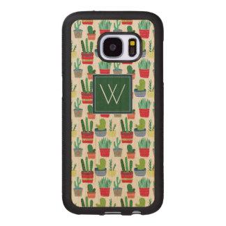 Monogram   A Crowd of Cactus Wood Samsung Galaxy S7 Case