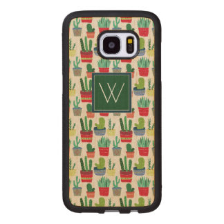 Monogram | A Crowd of Cactus Wood Samsung Galaxy S7 Edge Case