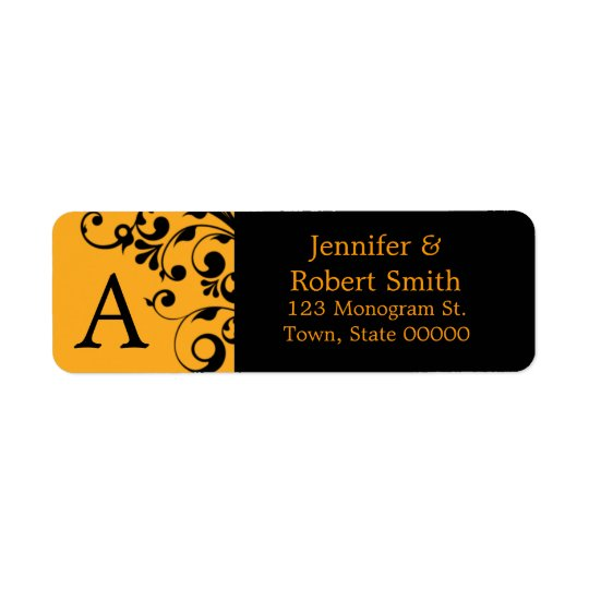 Monogram A Custom Address Labels | Halloween
