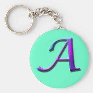 Monogram A Keychain