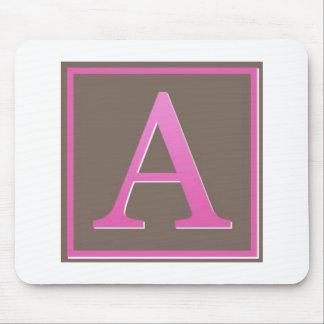 monogram a mouse pad