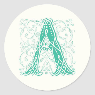 Monogram A Stickers