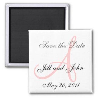 Monogram A Wedding Save the Date Magnet Refrigerator Magnet