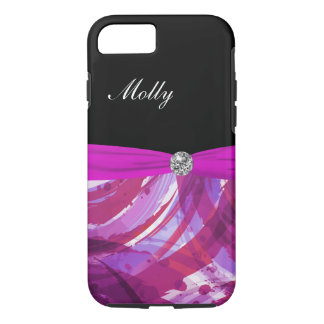 Monogram Abstract Green Bow iPhone 7 Case