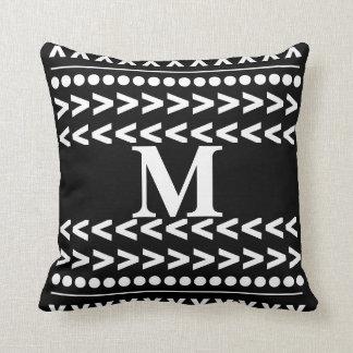 monogram abstract pattern geometric modern pillow