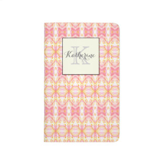 Monogram Abstract Pattern Pink & Yellow - Journal