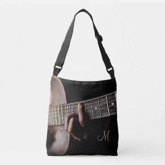 Monogram Acoustic Guitar Music Tote Bag
