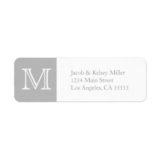 Monogram address label