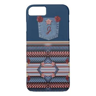 Monogram Adorable Denim Pocket iPhone 7 Case
