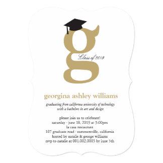 Monogram Alphabet Graduate Graduation Photo Party